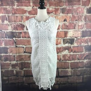 White Eyelet Neiman Marcus Dress